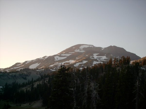 South Sister View at Dusk from Moraine Lake Site 12 08.27.2011 Taken by Joel Bornzin