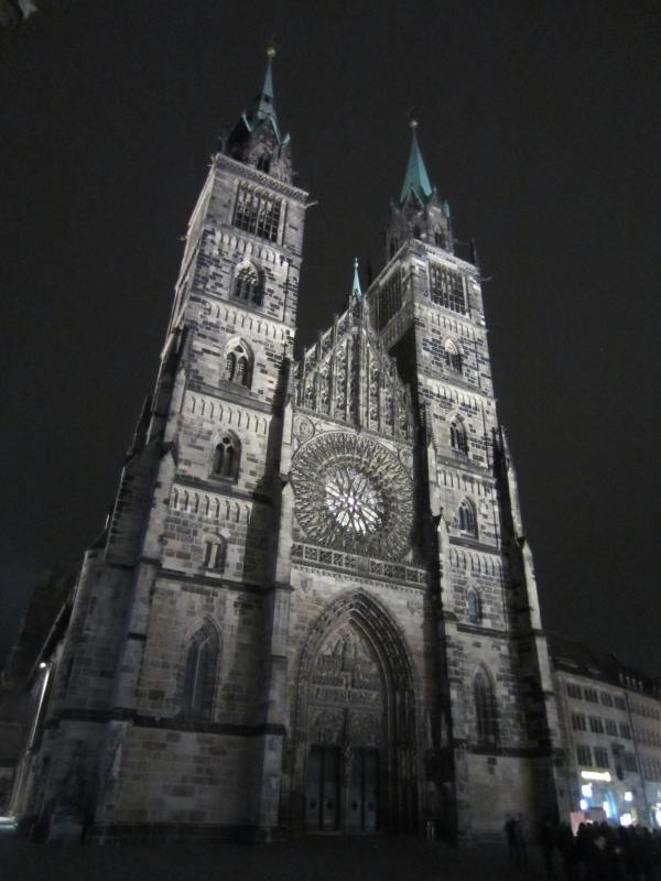 Nuremberg Church at Night - Picture taken by Joel Bornzin