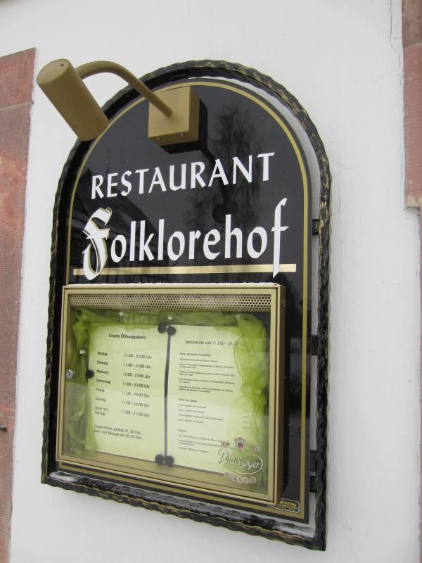 Restaurant Folklorehof - Chemnitz - Picture taken by Joel Bornzin