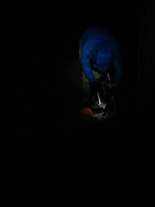 Timberline Mountain Guide Todd Glew at 3AM on Broken Top Picture Taken by Joel Bornzin