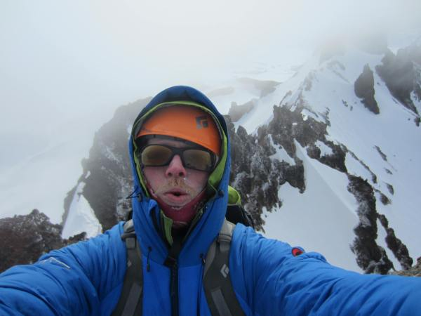 Timberline Mountain Guide Todd Glew on Summit of Broken Top