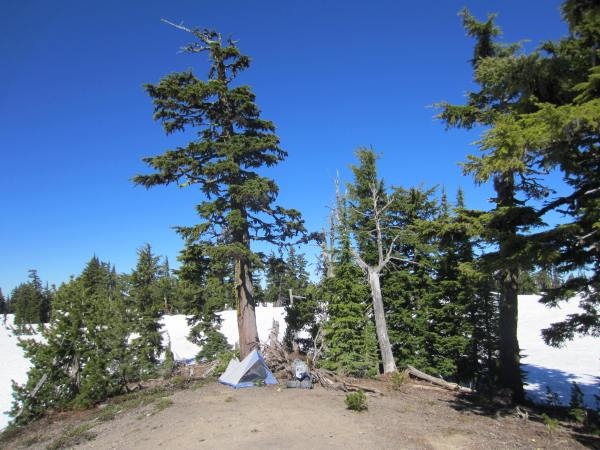 South Sister - South Side Route - Camp Picture Taken by Joel Bornzin