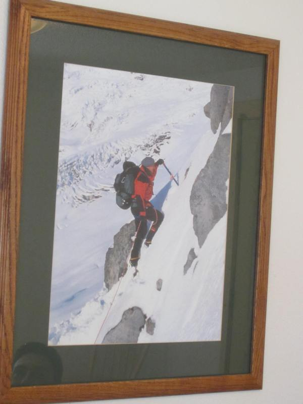 Lou Whittaker Climbing Framed Photo