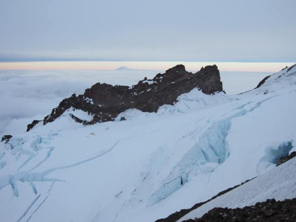 Crevasses on Mt. Rainier Picture Taken by Joel Bornzin