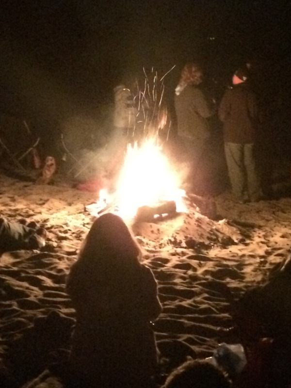 Classic Oregon Beach Bonfire