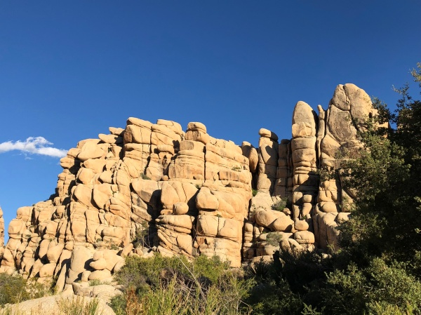Rock Formations on the Boy Scout Trail to Willow Hole - Wonderland of Rocks - May 2019